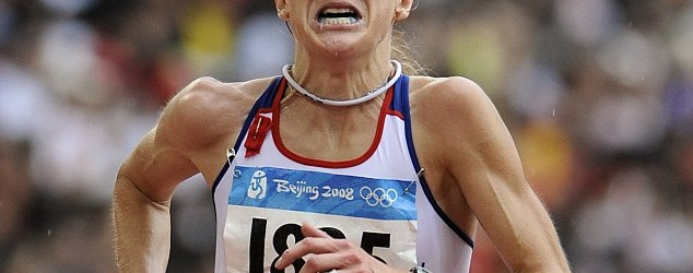 Paula Radcliffe looking beautiful running during the Beijing Summer Olympics 2008, taking home 23rd place. Source: http://i.dailymail.co.uk/i/pix/2012/07/28/article-0-024F691300000578-140_634x509.jpg